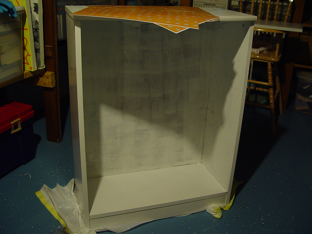 bookshelf makeover