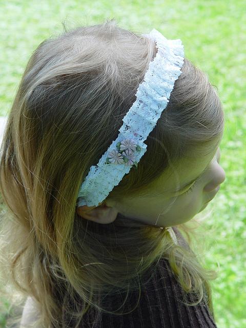 pleated headband