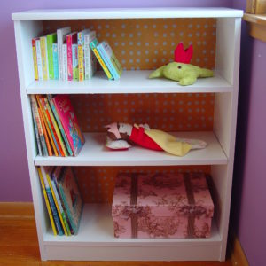 bookshelf makeover button